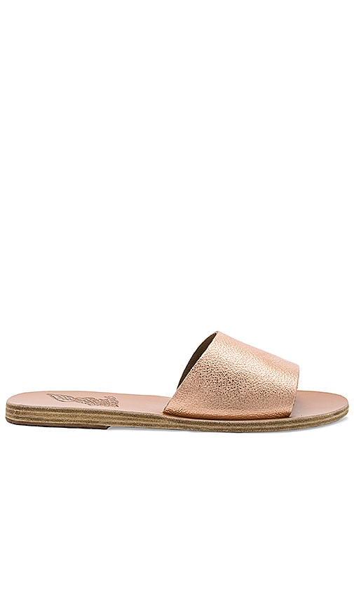Ancient Greek Sandals Taygete Sandal in Metallic Copper