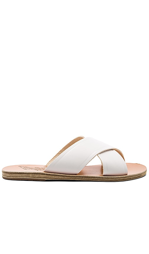 Ancient Greek Sandals Thais Sandal in White