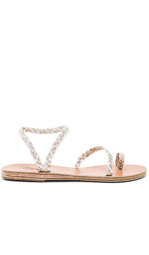 Ancient Greek Sandals Eleftheria Sandal in Metallic Silver