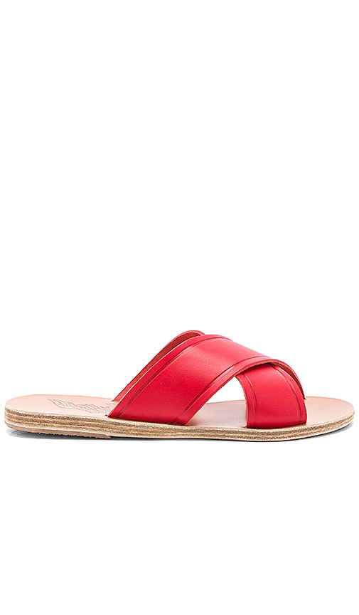 Ancient Greek Sandals Thais Sandal in Red