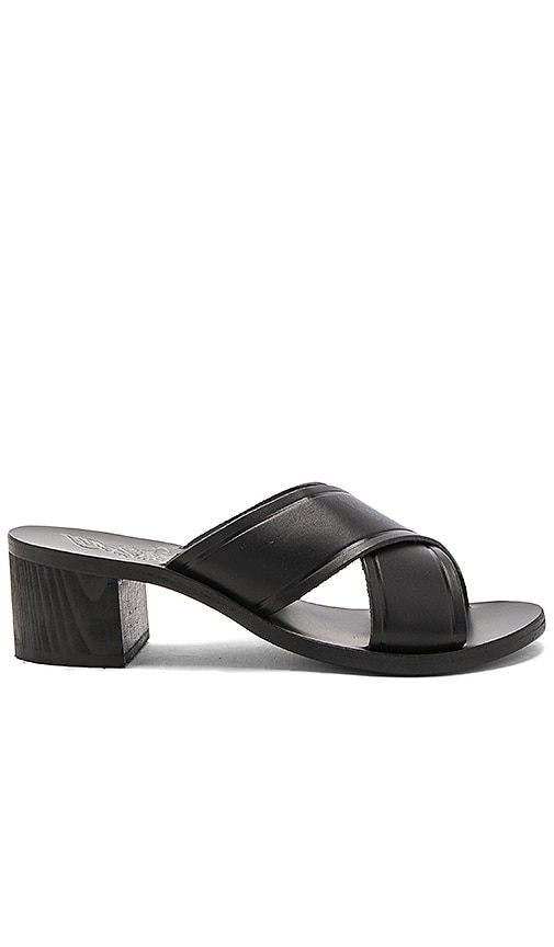 Ancient Greek Sandals Thais Block Heel in Black