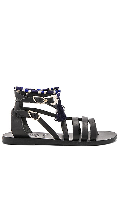 Ancient Greek Sandals x lemlem Satira Wrap Sandal in Black
