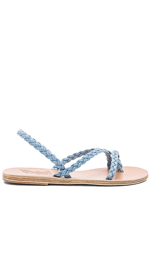 Ancient Greek Sandals Yianna Denim Sandal in Baby Blue
