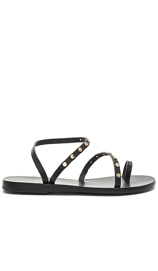 Ancient Greek Sandals Apli Eleftheria Nails Sandal in Black