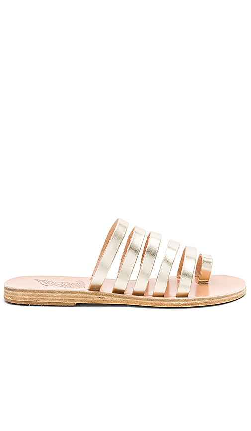 Ancient Greek Sandals Niki Vachetta Sandal in Metallic Gold