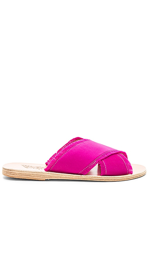 Ancient Greek Sandals Thais Satin Sandal in Fuchsia