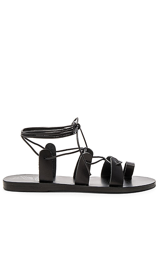 Ancient Greek Sandals Alcyone Sandal in Black