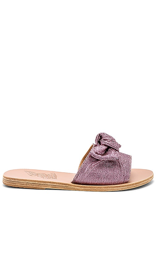 Ancient Greek Sandals Taygete Bow Sandal in Pink