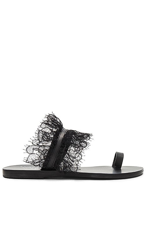 Ancient Greek Sandals Thalia Sandal in Black