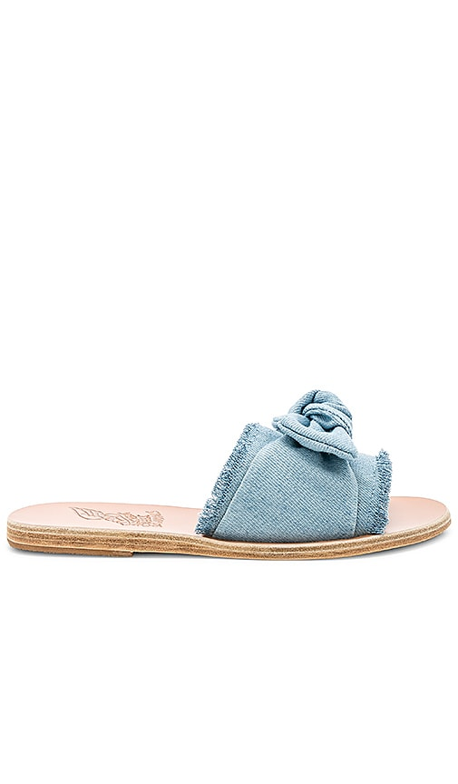 Ancient Greek Sandals Taygete Bow Sandal in Blue