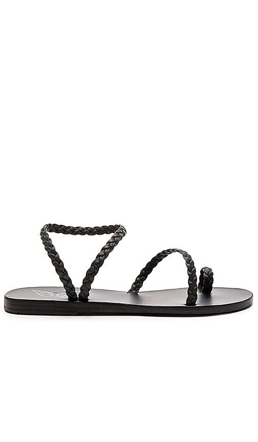 Ancient Greek Sandals Eleftheria Sandal in Black