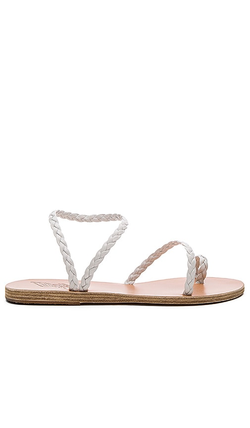 Ancient Greek Sandals Eleftheria Sandal in White