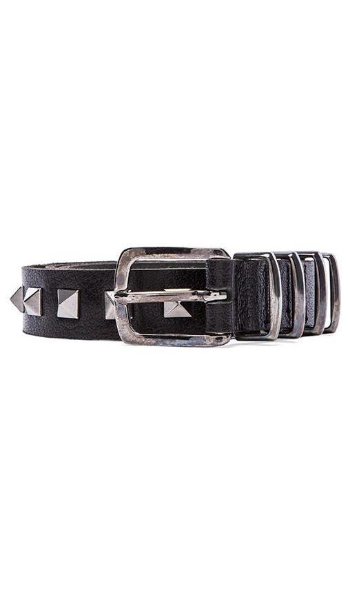 Gunmetal Studded Belt