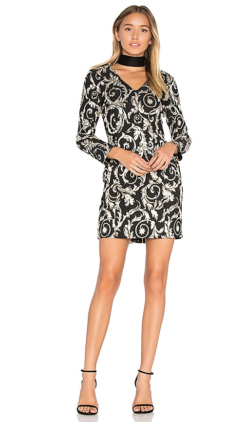 25d19bb57195 ANINE BING Brocade Dress in Black & Gold | REVOLVE