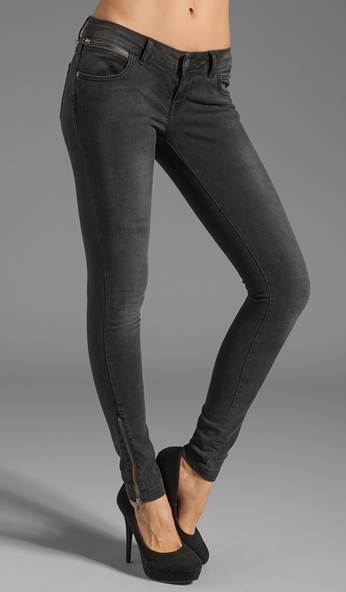 Skinny Double Zipper Skinny