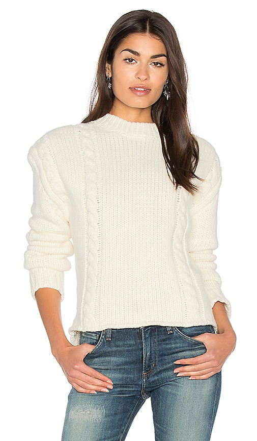 ANINE BING Chunky Knit Sweater in Cream