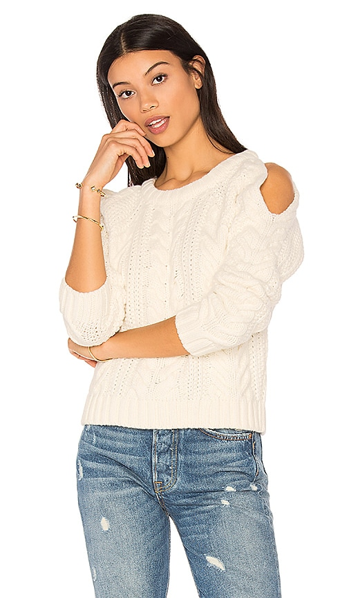 ANINE BING Cut Out Sweater in White