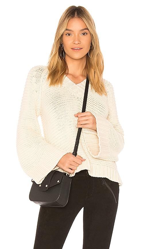 ANINE BING Bell Sleeve Knit Sweater in Cream