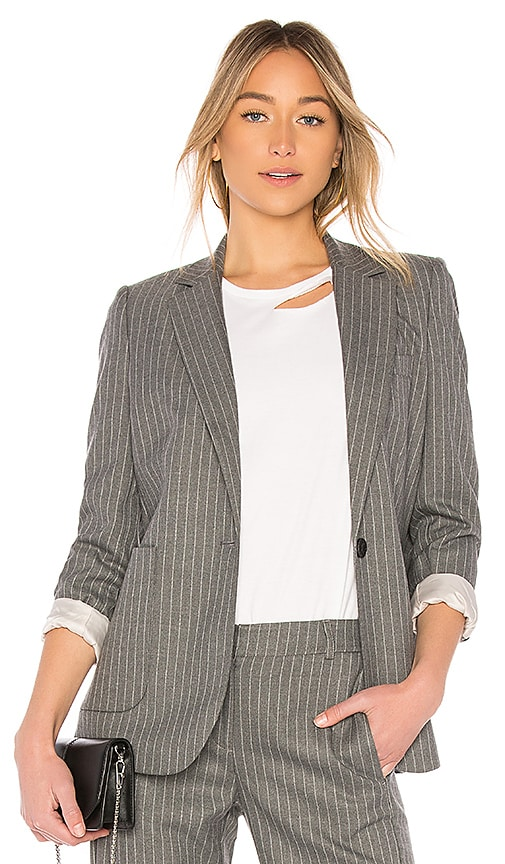 ANINE BING School Boy Blazer in Gray