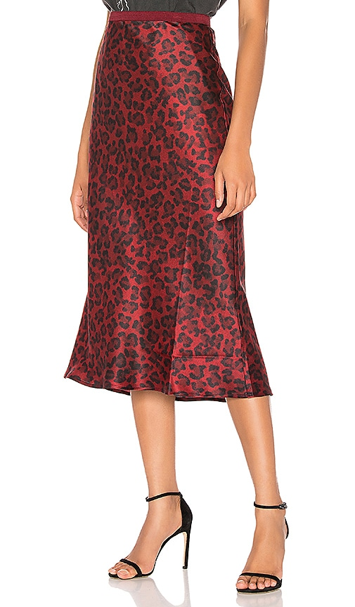 Bar Silk Midi Skirt