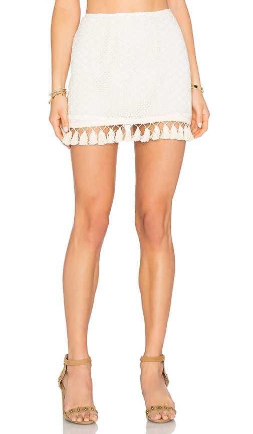 ANINE BING Crochet Skirt in Cream