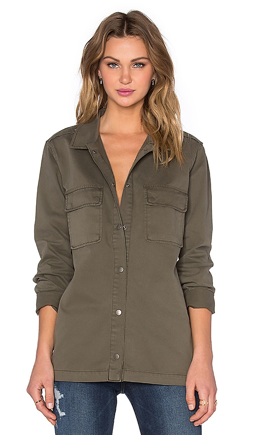 ANINE BING Army Denim Shirt in Army