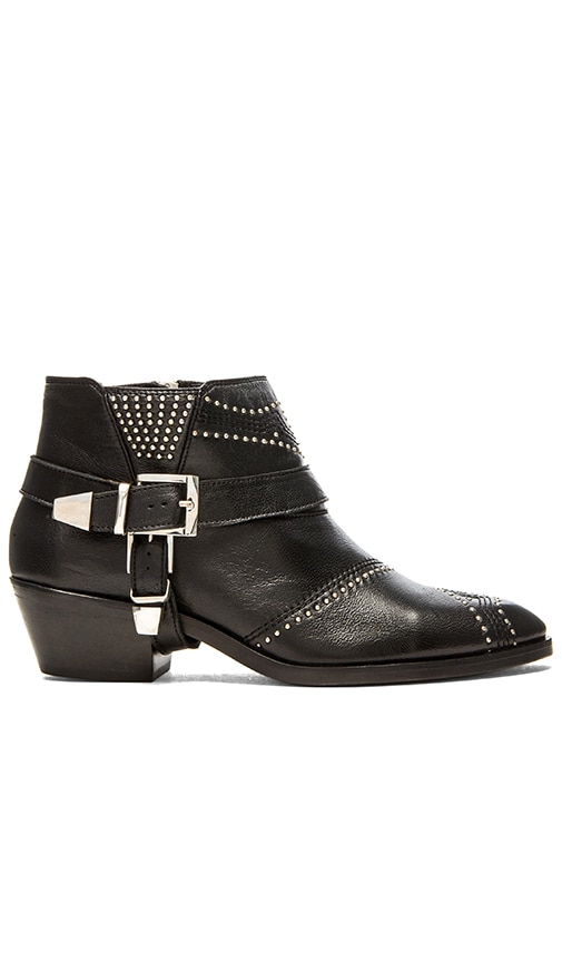 ANINE BING Studded Boots with Buckles in Silver