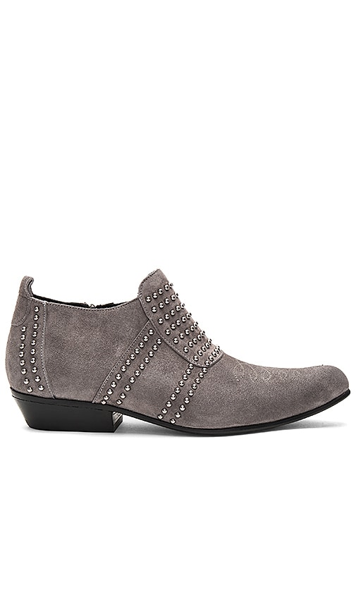 ANINE BING Low Charlie Bootie in Charcoal