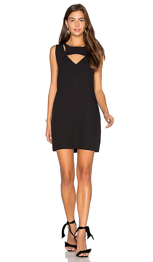 ANIMALE Cut Out Shift Dress in Black