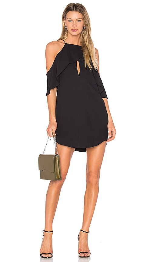 ANIMALE Cold Shoulder Dress in Black