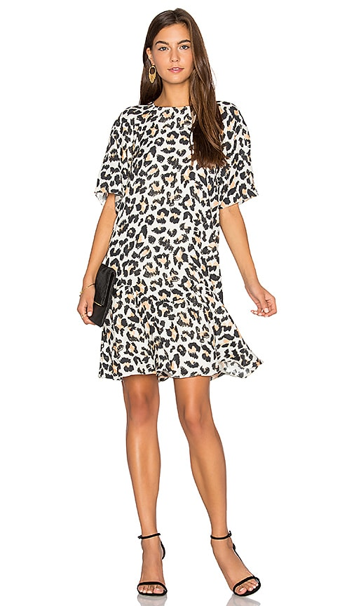 ANIMALE Drop Waist Dress in Ivory