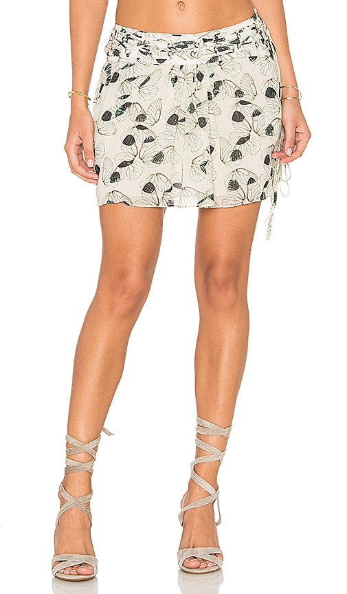 ANIMALE Wing Mini Skirt in Wing Print