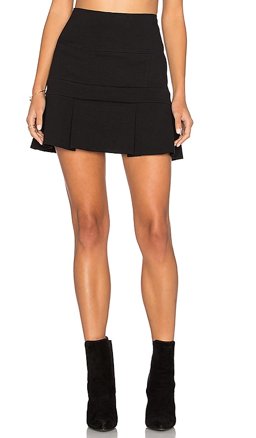 ANIMALE Flounce Mini Skirt in Black