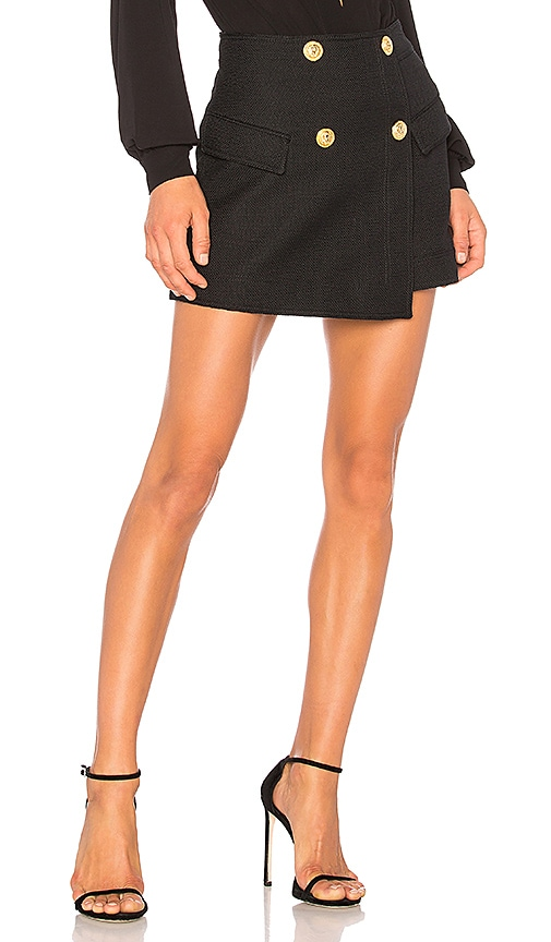 ANIMALE Wrap Skirt in Black
