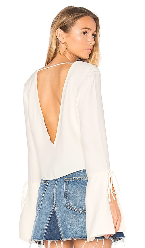 ANIMALE Bell Sleeved Blouse in White