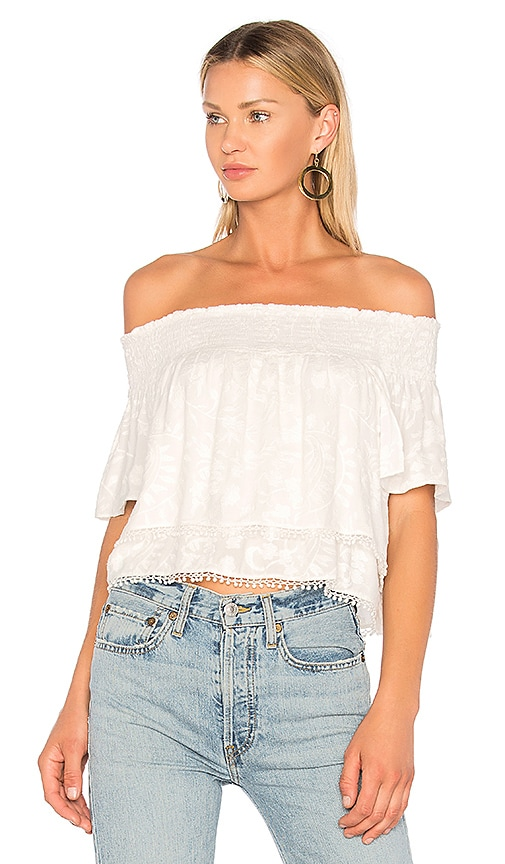 ANIMALE Off the Shoulder Top in White