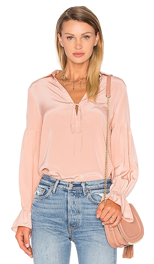 ANIMALE Peasant Blouse in Blush