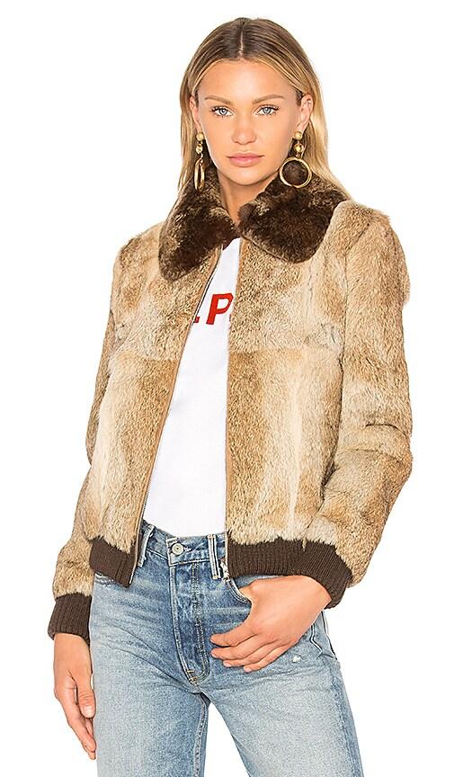 A.P.C. Brigit Fur Jacket in Brown