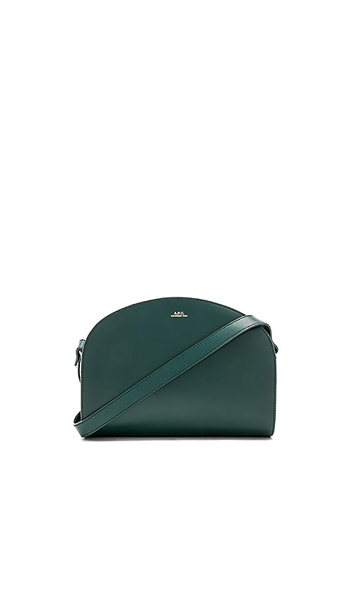A.P.C. Demi Lune Crossbody in Dark Green