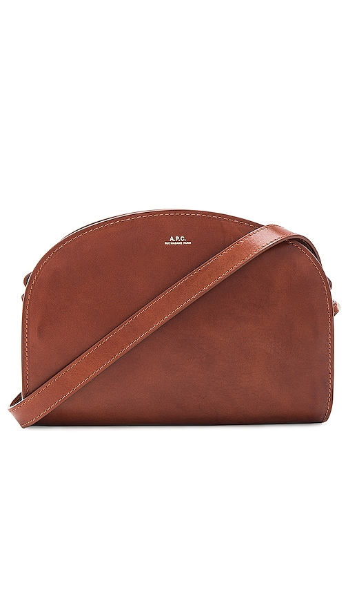 A.P.C. Demi Lune Bag in Brown