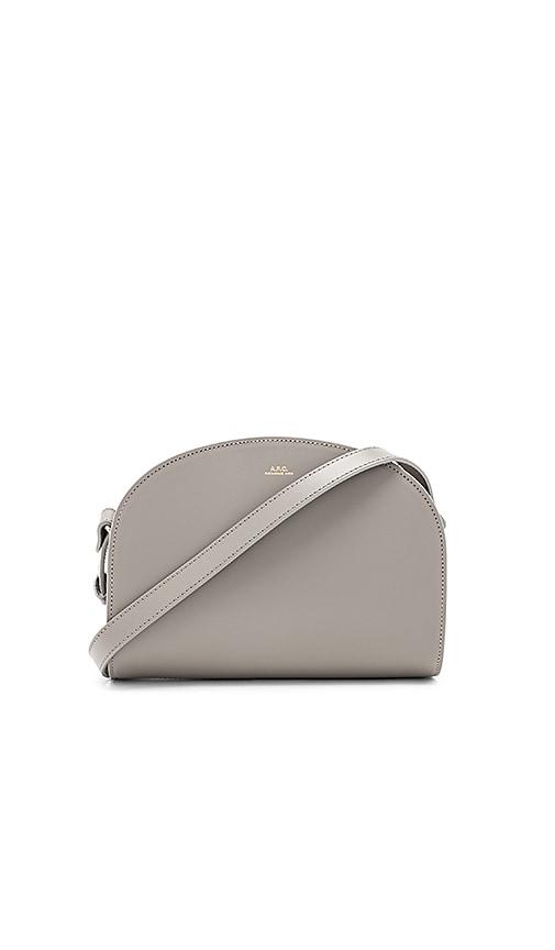 A.P.C. Demi Lune Bag in Gray