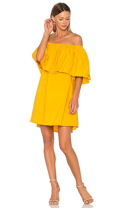 APIECE APART Piper Petal Dress in Yellow
