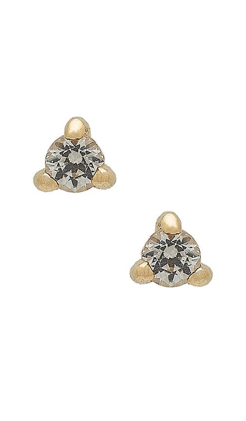 Apres Jewelry Petite Stone Studs in Metallic Gold
