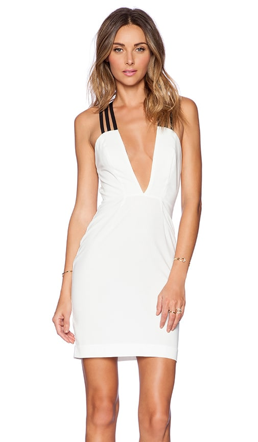 AQ/AQ Tri Mini Dress in White