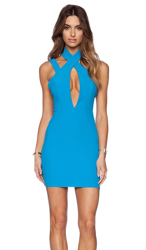 AQ/AQ Simmer Mini Dress in Jewel Blue