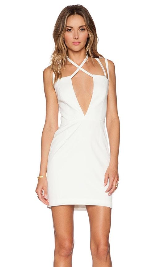 AQ/AQ Rocha Mini Dress in Cream