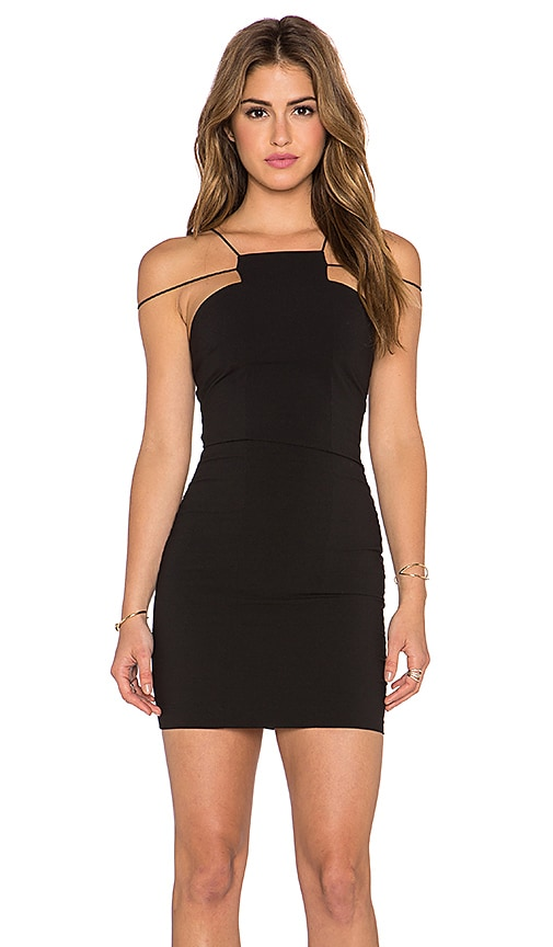 AQ/AQ Maple Mini Dress in Black