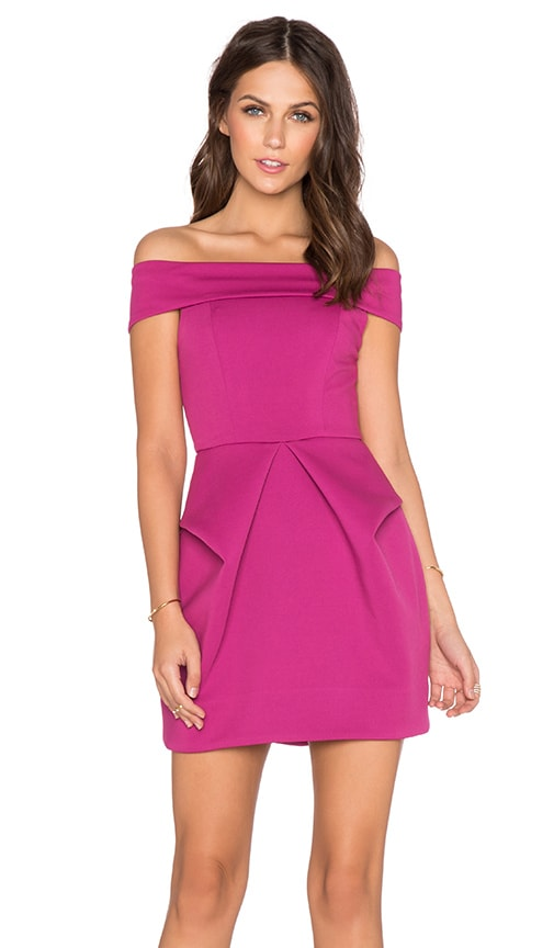 AQ/AQ Magnate Mini Dress in Fuchsia