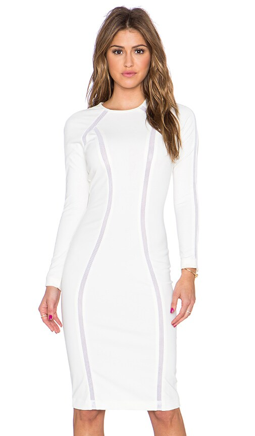 AQ/AQ Discipline Midi Dress in Cream