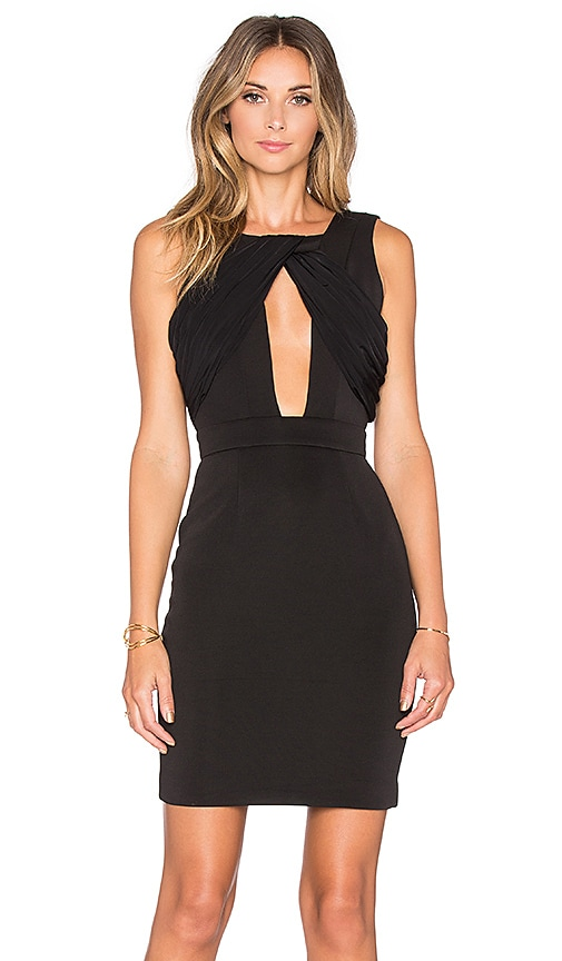 AQ/AQ Cally Mini Dress in Black